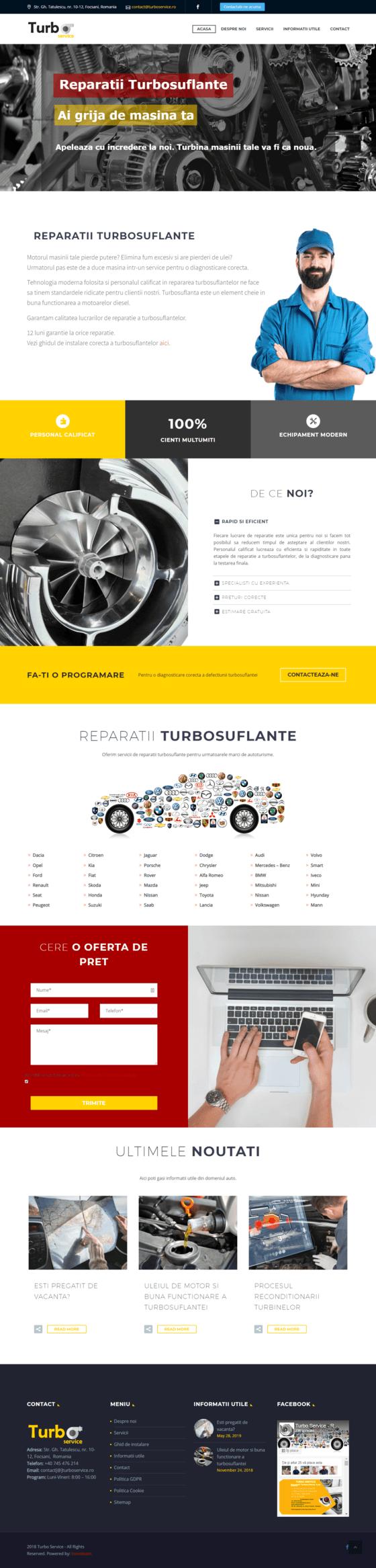 Inovateam site de prezentare- turboservice