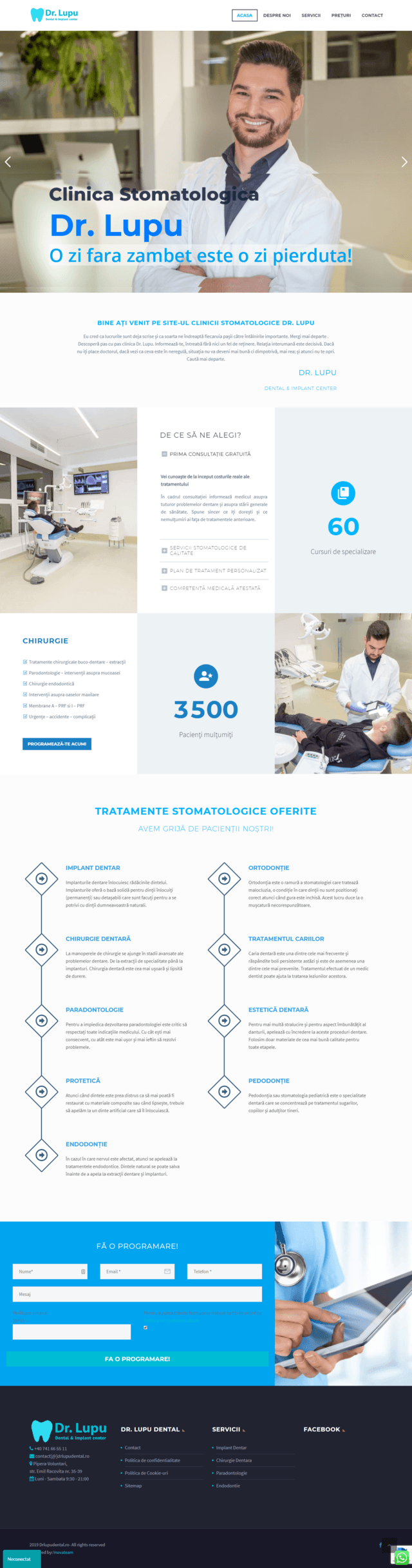 Inovateam web design - drlupudental
