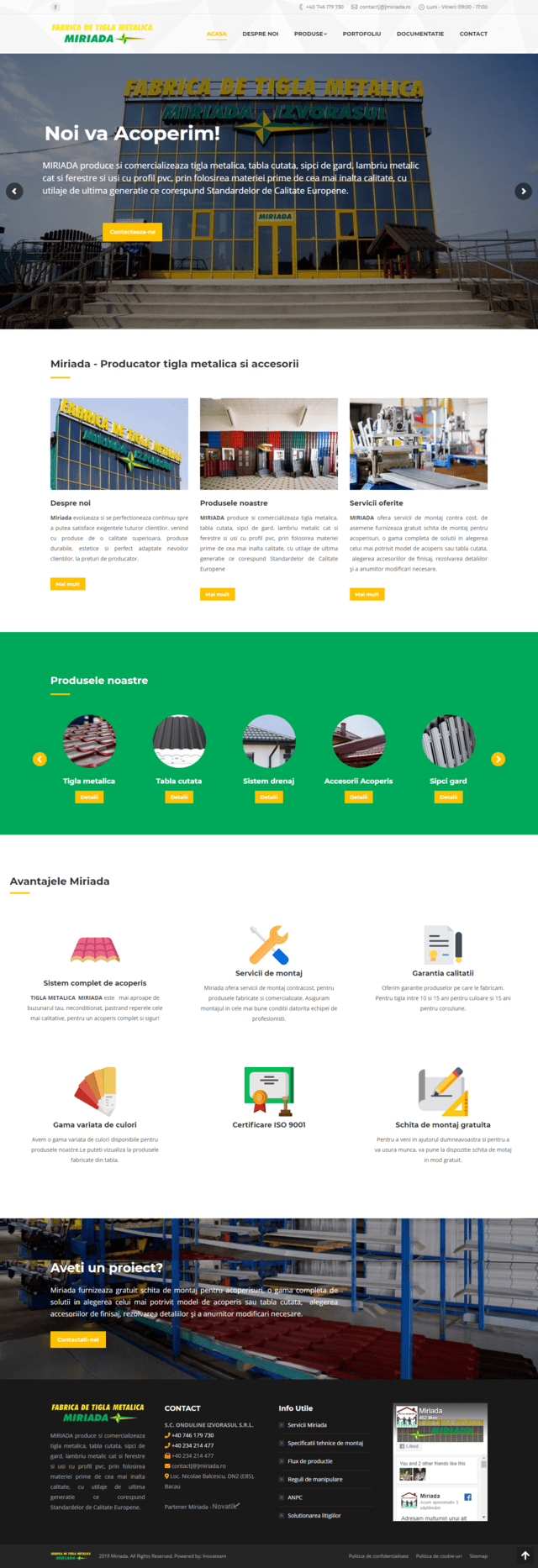 servicii web design - miriada.ro